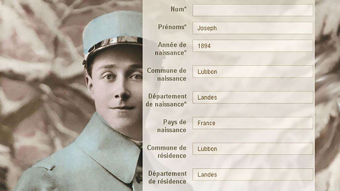 Indexation collaborative des soldats landais